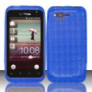 TPU Crystal Gel Case for HTC Rhyme (Verizon) - Blue