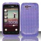 TPU Crystal Gel Case for HTC Rhyme (Verizon) - Purple