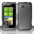 Hard Rubber Feel Design Case for HTC Radar 4G (T-Mobile) - Carbon Fiber