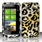Hard Rubber Feel Design Case for HTC Radar 4G (T-Mobile) - Cheetah