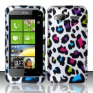 Hard Rubber Feel Design Case for HTC Radar 4G (T-Mobile) - Colorful Leopard