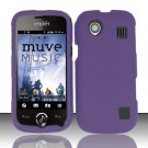 Hard Rubber Feel Plastic Case for ZTE Chorus - Purple