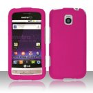 Hard Transparent Plastic Case for LG Optimus M/C - Rose Pink