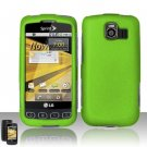 Hard Rubber Feel Plastic Case for LG Optimus S/U/V - Neon Green