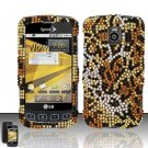 Hard Rhinestone Design Case for LG Optimus S/U/V - Cheetah