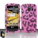 Hard Rhinestone Design Case for LG Optimus S/U/V - Pink Leopard