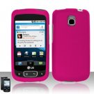 Hard Rubber Feel Plastic Case for LG Optimus T/Phoenix/Thrive (T-Mobile/AT&T) - Pink