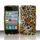 Hard Rhinestone Design Case for Apple iPhone 4/4S - Cheetah