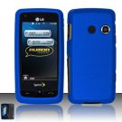 Hard Rubber Feel Plastic Case for LG Rumor Touch/Banter Touch (Sprint/MetroPCS) - Blue