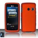 Hard Rubber Feel Plastic Case for LG Rumor Touch/Banter Touch (Sprint/MetroPCS) - Orange