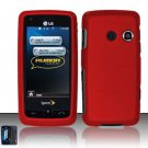 Hard Rubber Feel Plastic Case for LG Rumor Touch/Banter Touch (Sprint/MetroPCS) - Red
