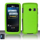 Hard Rubber Feel Plastic Case for LG Rumor Touch/Banter Touch (Sprint/MetroPCS) - Neon Green