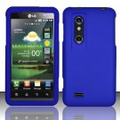 Hard Rubber Feel Plastic Case for LG Thrill 4G P925 (AT&T) - Blue
