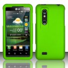 Hard Rubber Feel Plastic Case for LG Thrill 4G P925 (AT&T) - Neon Green
