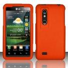 Hard Rubber Feel Plastic Case for LG Thrill 4G P925 (AT&T) - Orange