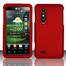 Hard Rubber Feel Plastic Case for LG Thrill 4G P925 (AT&T) - Red