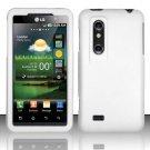 Hard Rubber Feel Plastic Case for LG Thrill 4G P925 (AT&T) - White