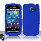 Hard Rubber Feel Plastic Case for LG Vortex VS660 (Verizon) - Blue