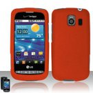 Hard Rubber Feel Plastic Case for LG Vortex VS660 (Verizon) - Orange