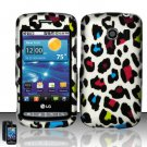 Hard Rubber Feel Design Case for LG Vortex VS660 (Verizon) - Colorful Leopard