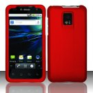 Hard Rubber Feel Plastic Case for LG Optimus 2X/G2x - Red