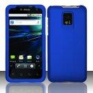 Hard Rubber Feel Plastic Case for LG Optimus 2X/G2x - Blue