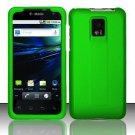 Hard Rubber Feel Plastic Case for LG Optimus 2X/G2x - Neon Green