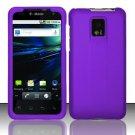 Hard Rubber Feel Plastic Case for LG Optimus 2X/G2x - Purple