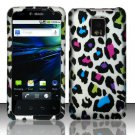 Hard Rubber Feel Design Case for LG Optimus 2X/G2x - Colorful Stripes
