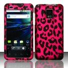 Hard Rubber Feel Design Case for LG Optimus 2X/G2x - Pink Leopard