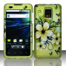 Hard Rubber Feel Design Case for LG Optimus 2X/G2x - Hawaiian Flowers