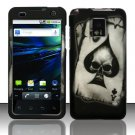 Hard Rubber Feel Design Case for LG Optimus 2X/G2x - Spade Skull