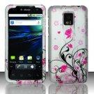 Hard Rubber Feel Design Case for LG Optimus 2X/G2x - Pink Garden