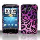 Hard Rubber Feel Design Case for HTC Inspire 4G/Desire HD - Purple Cheetah