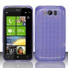TPU Crystal Gel Case for HTC Titan X310e (AT&T) - Purple