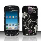 Hard Rubber Feel Design Case for Samsung Exhibit 4G - Midnight Garden