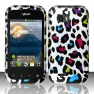 Hard Rubber Feel Design Case for LG myTouch Q C800 (T-Mobile) - Colorful Leopard