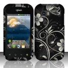 Hard Rubber Feel Design Case for LG myTouch Q C800 (T-Mobile) - Midnight Garden