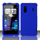 Hard Rubber Feel Plastic Case for HTC EVO Design 4G - Blue