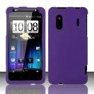 Hard Rubber Feel Plastic Case for HTC EVO Design 4G - Purple