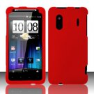 Hard Rubber Feel Plastic Case for HTC EVO Design 4G - Red