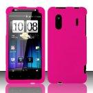 Hard Rubber Feel Plastic Case for HTC EVO Design 4G - Rose Pink