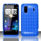 TPU Crystal Gel Case for HTC EVO Design 4G - Blue