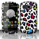 Hard Rubber Feel Design Case for Pantech Breakout 8995 (Verizon) - Colorful Leopard