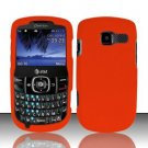 Hard Rubber Feel Plastic Case for Pantech Link II P5000 - Orange