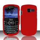 Hard Rubber Feel Plastic Case for Pantech Link II P5000 - Red