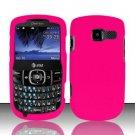 Hard Rubber Feel Plastic Case for Pantech Link II P5000 - Rose Pink