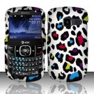 Hard Rubber Feel Design Case for Pantech Link II P5000 - Colorful Leopard
