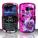 Hard Rubber Feel Design Case for Pantech Link II P5000 - Hibiscus Flowers
