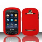 Hard Rubber Feel Plastic Case for Pantech Pursuit II P6010 - Red